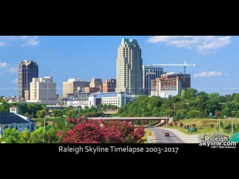 Raleigh's growth visualized: A 14 year time-lapse of Raleigh from RaleighSkyline.com