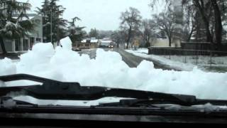 Snow over Clearlake, CA New Year