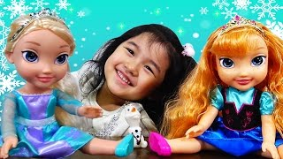 アナと雪の女王 プリンセスドールエルサとアナ オラフ ディズニー お人形ごっこ遊び アナ雪 himawari-CH thumbnail