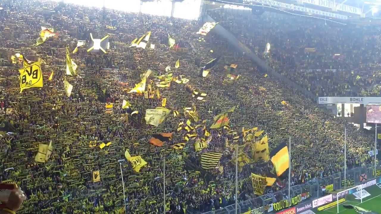 You'll never walk alone - Borussia Dortmund - SC Freiburg 5:0 BVB Stimmung Südtribüne