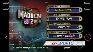 Madden NFL 2000 All Teams and Stadiums
