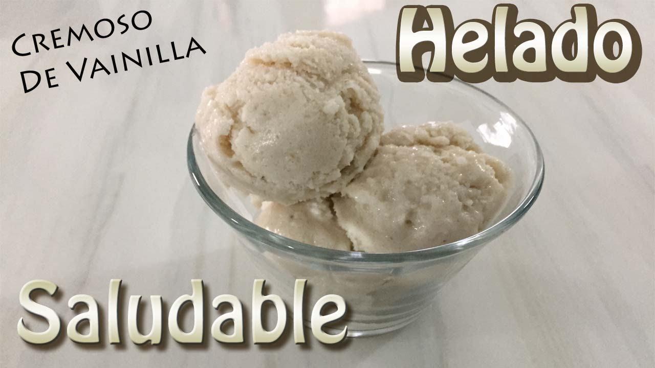Como se hace el helado de vainilla para la dieta