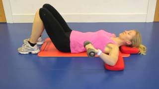 Lying Shoulder Rotator Cuff Strengthening Exercise
