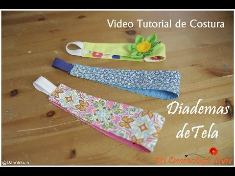 Tutorial #5 - Como hacer Diademas de Tela - How to make a headband fabric