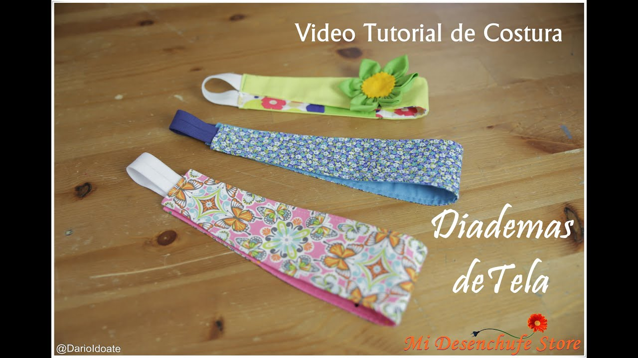 tutorial 5 como hacer diademas de tela how to make a headband fabric youtube - Diademas De Tela