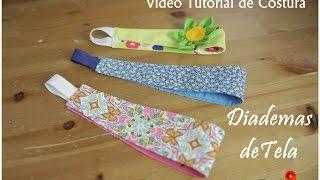 tutorial 5 como hacer diademas de tela how to make a headband fabric