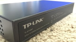 TP-LINK TL-SF1008P Product Unboxing