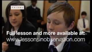 Lesson observation: Year 8 English KS3 (excerpt)