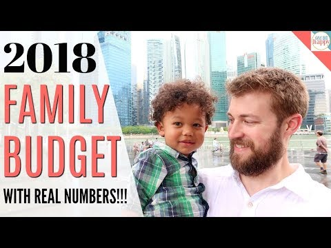 Our 2018 Family Budget with REAL NUMBERS! How We Budget For a Whole Year at a Time -  Family Budget