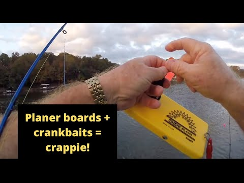 Trolling Crankbaits Behind Off Shore Tackle Planer Boards on Lake Of The Ozarks #5 (10-15-16)