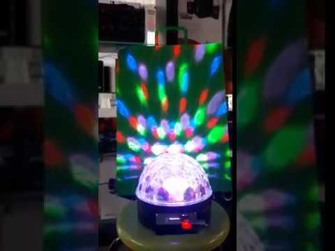 d2516f46e7e BOLA LED DISCO esfera luminosa usb sd - YouTube