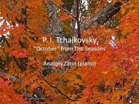 """P. I. Tchaikovsky - """"October"""". Anatoly Zatin (piano)"""