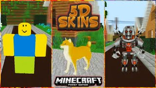🔥5D Realistic Skins IN MINECRAFT PE! | Minecraft Pocket Edition | 5D Skin Pack