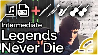 Legends Never Die (simplified) - League of Legends (Synthesia Piano Tutorial)