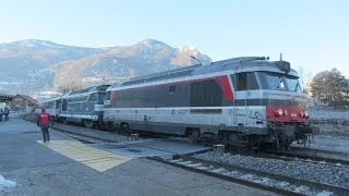 France:  SNCF Paris Austerlitz to Briancon overnight 'super pointes' ski trains - 22nd Feb 2014