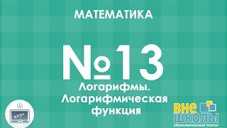 Онлайн-урок ЗНО. Математика №13. Логарифм. Логарифмическая функция.