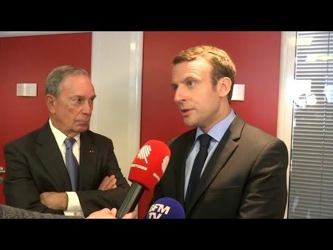 Michael Bloomberg, ancien maire de New York, reçu par Emmanuel Macron