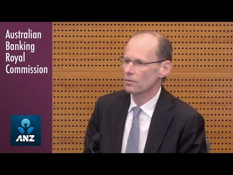 The CEO of ANZ testifies at the Banking Royal Commission