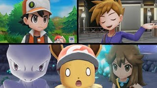 Pokemon Lets Go Eevee/Pikachu! - VS Mewtwo, Green, Blue and Red