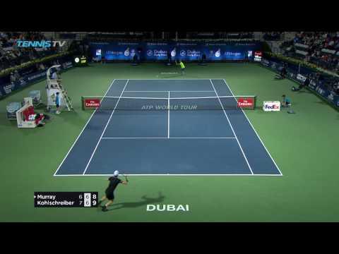 Hot Shot: Murray Saves Match Point vs. Kohlschreiber in Dubai