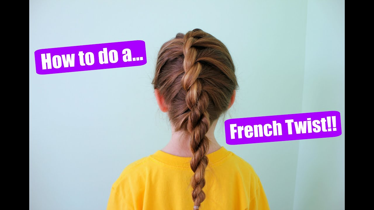 How To Do A French Twist Into Rope Braid!!