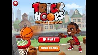NEW Игры для детей—Неудачная игра в баскетбол Мультик видео для девочек Trick Hoops Puzzle Edition