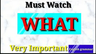 WHAT-se related important sentence/English grammar/YUVI ENGLISH