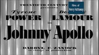 Johnny Apollo (1940) Tyrone Power, Dorothy Lamour | Crime, Drama, Film-Noir