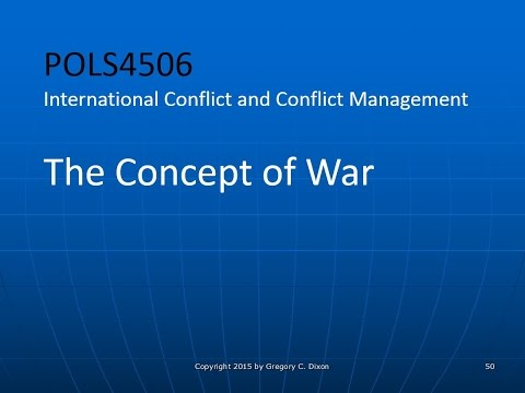 POLS4506.03 - The Concept of War