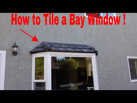 How To Install A Tile Roof On A Bay Window...step By Step  Video .