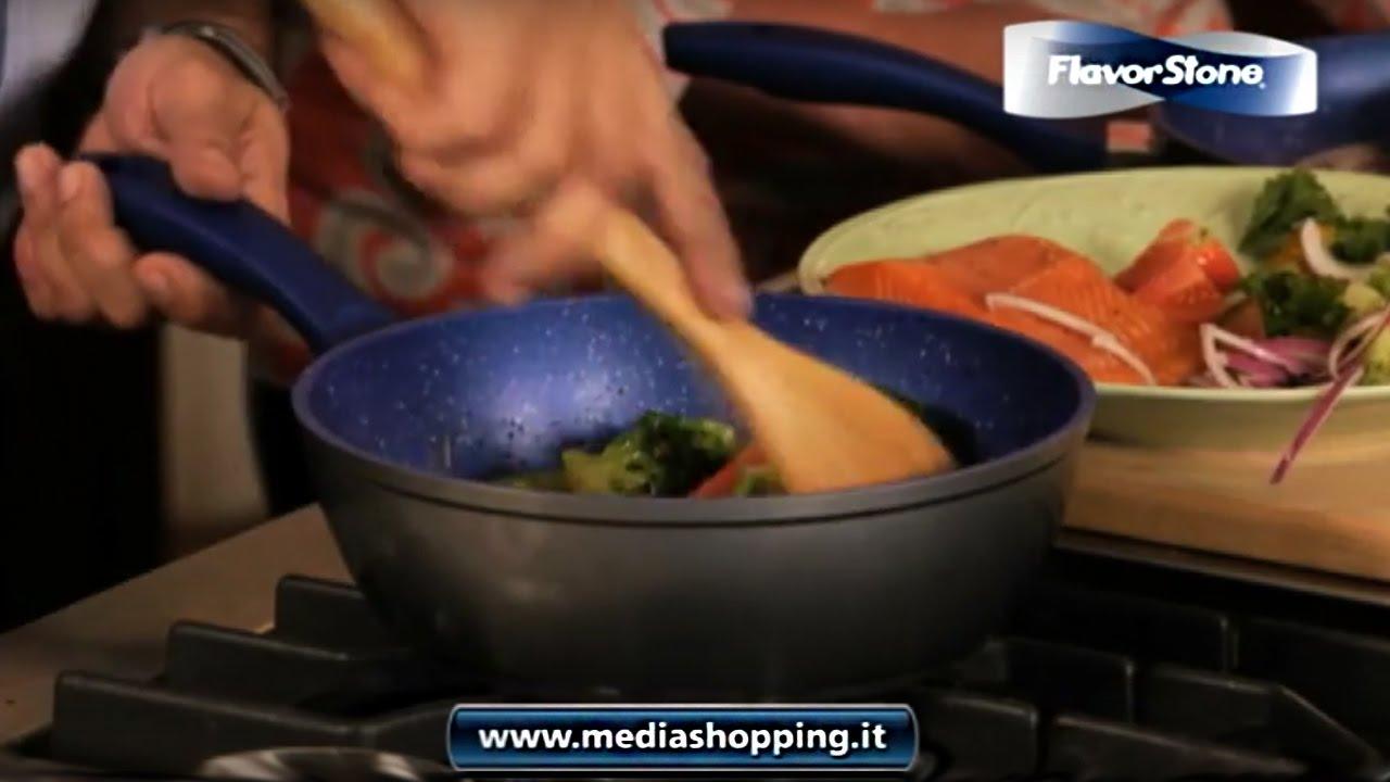 Pentole Flavorstone Blu Cucina Sano E Senza Grassi
