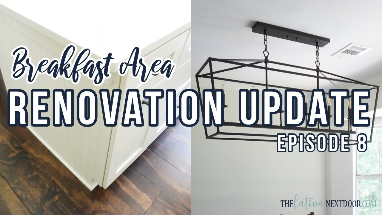 Kitchen Renovation Update Episode 8 - Breakfast Area & Island Update with Eyely