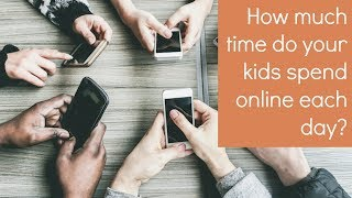 How much time do your kids spend online each day?