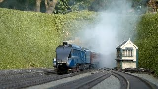 Busy Day at Sutterby - an O Gauge Garden Railway