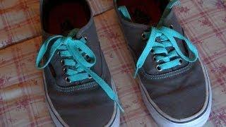 Desprecio morir Efectivamente  Cómo poner cordones a las Vans en cruz - YouTube