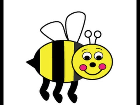 webby wanda how to draw a cartoon honey or bumble bee easy step by step instructions for kids