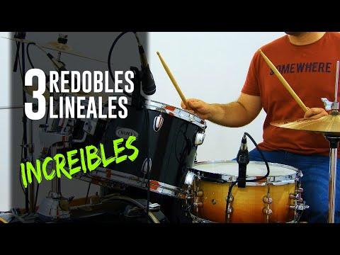 3 REDOBLES LINEALES De BATERIA Para USAR En CUALQUIER GENERO Musical