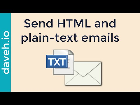 Sending HTML email: Why it's Important to Send a Plain-text Version too