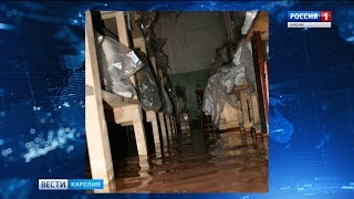 В Петрозаводске затопило фондохранилище Музея ИЗО
