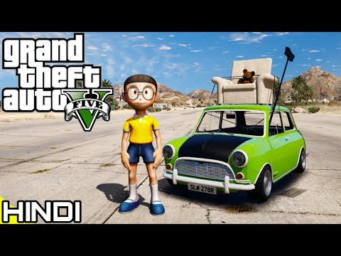 NOBITA with Mr BEAN'S CAR in GTA V #8