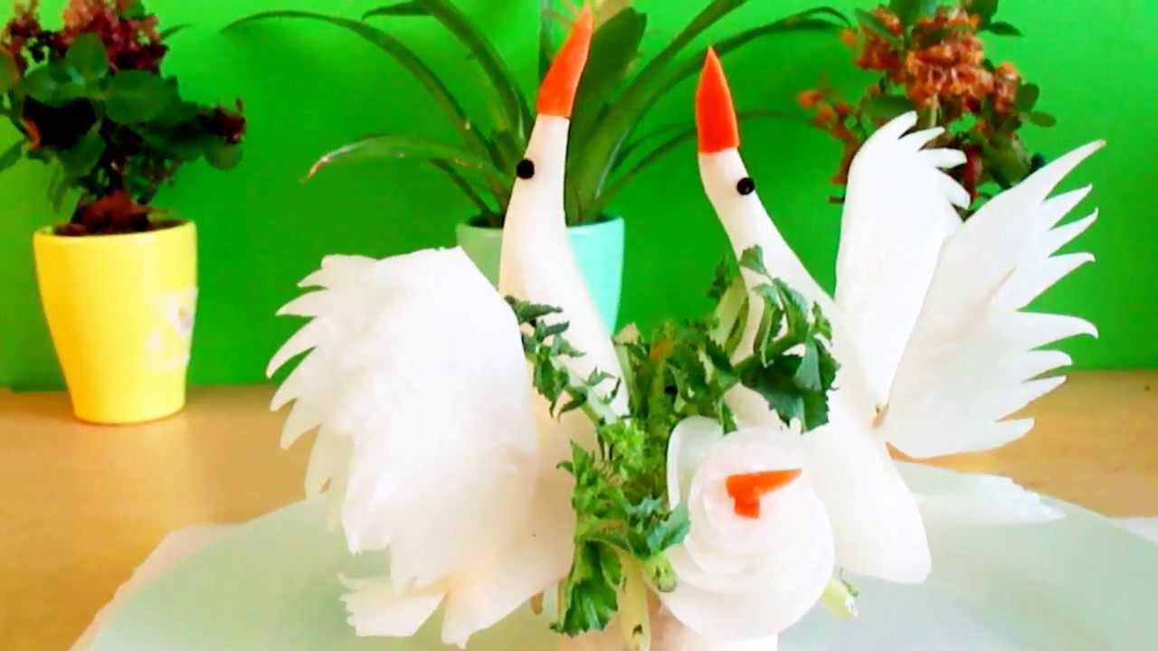 Vegetable carving for competition - Art In White Radish Vegetable Carving A Birds Or Swans Garnish Italypaul Co Uk Youtube