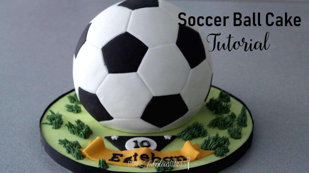 Soccer Ball Cake Tutorial (Football Cake)
