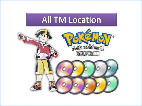 All TMs Locations In Pokemon Crystal