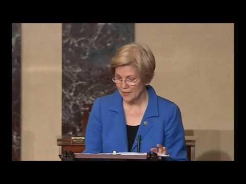 Elizabeth Warren reprimanded kicked off of Senate floor