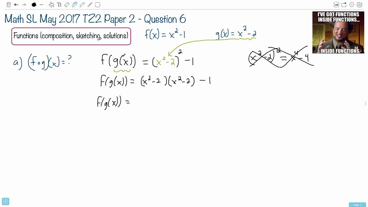 Question 6a — IB Math SL — May 2017 TZ2 Paper 2 — Past IB Exams Solutions