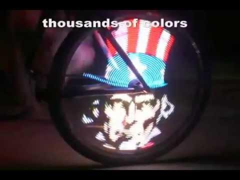 Подсветка колеса велосипеда