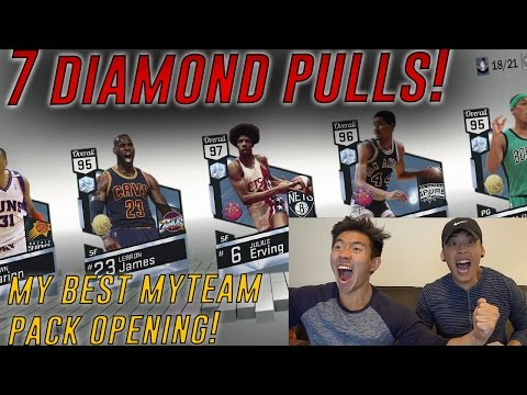 7 DIAMOND PULLS! MY BEST MYTEAM PACK OPENING EVER! 1 MILL VC GIVEAWAY! NBA 2K17 MYTEAM