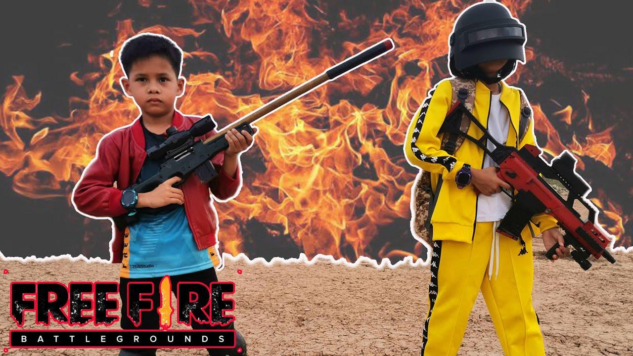 หนังสั้น เอาชีวิตรอด ฟีฟายในชีวิตจริง Ep.1 l FreeFire NERF WAR FREE FIRE IS REAL BATTLE