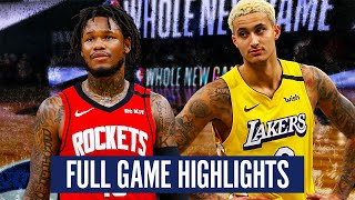 LOS ANGELES LAKERS vs HOUSTON ROCKETS - FULL GAME HIGHLIGHTS | 2019-20 NBA SEASON