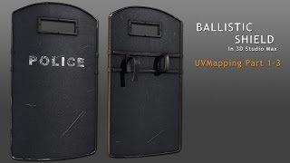 tutorial ballistic shield in 3d studio max part 2 3 reupload